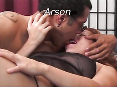 Arson banged by black dick