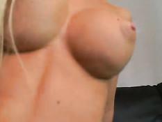 Blond slut sucking