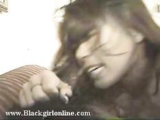 Жёсткий трах чернокожей парочки
