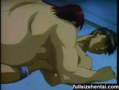 Хентай гей жёстко трахает парня в анус