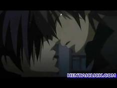 Аниме гей целуется с другом в библиотеке