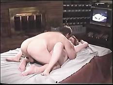 Секс на свинг пати большой белой толстухи с чёрным парнем