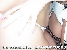 Нежные ласки гламурных лесбиянок - Diamond Kitty и Britney Amber