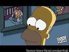 Симпсоны решив всех удивить сняли собственное порно видео