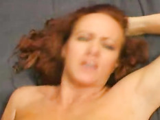 Redhead gets fucked in her ass