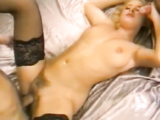Danish blonde with two men