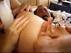 Girl squirts on anal orgasm