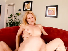 Horny MILF likes to hump young guys