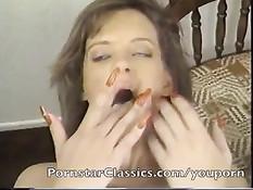 Компиляция сцен минетов и семяизвержений из классического порно