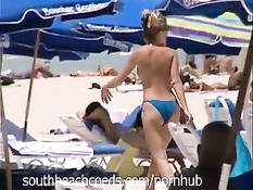 Голые американские девушки загорают на пляжах Южной Флориды
