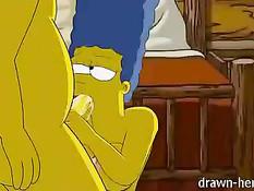 Частное домашнее секс видео американской аниме семьи Симпсонов