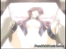 Парень оттолкнул сисястую аниме сучку и оттрахал её прямо на полу
