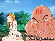 Аниме малышка использует свой оргазм, как оружие против монстров