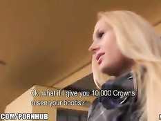 Красивую чешскую блондинку сняли на вокзале и оттрахали в поезде