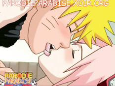 Молодой ниндзя Наруто занимается сексом со своей подругой Шизуне