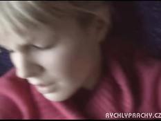 Парень разводит чешскую девку на публичный секс в вагоне поезда