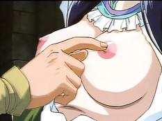Связанную аниме девушку в подвале отъебал похотливый злодей
