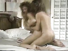 Lesbians hopping in bed