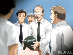 Eager anime girls pleasing men