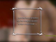 Кровожадные 3D вампирши занимаются сексом с двумя вампирами