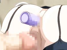 Аниме медсестра с огромной грудью занимается сексом с пациентами
