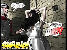 3D комикс о сексуальных приключениях голых беременных женщин