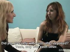 Чешские лесбиянки трахают друг дружку секс игрушками и языками