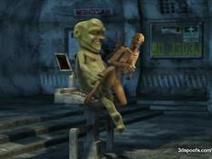 Инопланетянин в 3D клипе занимается сексом с девкой другой расы