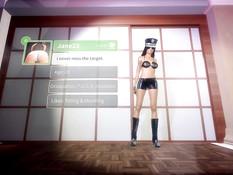 Реалистичные 3D девки занимаются страстным сексом в порно игре