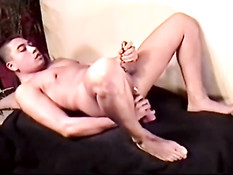 Dominic wanking and dildo in ass