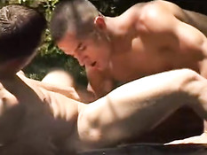 Sexy boys in free nature