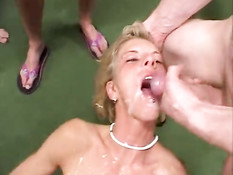 Sperm squirting orgy