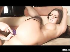 Татуированная лесбиянка Scarlett Pain ебёт подружку Rachel Roxxx