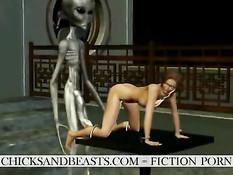 Инопланетные пришельцы пердолят обнажённых земных 3D девок