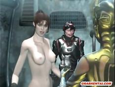 Две странные 3d девушки занимаются сексом с железным человеком