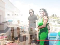 Грудастая латинская брюнетка Angelina Castro трахается на террасе