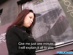 Парень снял на улице сисястую девушку и оттрахал в сочную киску