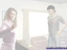 Три горячие 3d девки доставили парню сексуальное удовольствие