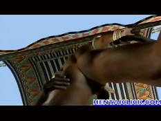 Гей из древнего Египта в 3D ролике трахает любовника на корабле
