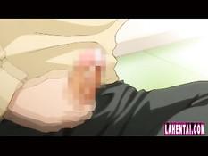 Возбуждённый паренёк дрочит член и лижет киску хентай девушке