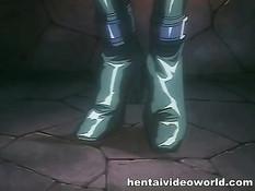 Рыцарь приковал аниме девушку цепями и заставил отсасывать член