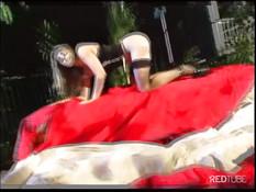 Мужик отодрал в анус соблазнительную блондинку Dominica Leoni