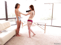 Девка с большой грудью Cassidy Banks ебётся и дрочит на кастинге