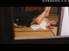 Возбуждённый японский мужчина раздевает монашку и ебёт на полу