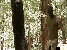 Похотливый гей связал и отъебал в лесу двух заблудившихся парней