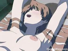 Парень вытащил большой член и оттрахал на кровати хентай девку