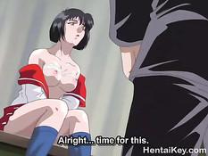 Он сделал куннилингус хентай студентке и оттрахал девку на полу