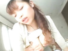 Huge tits of asian girl
