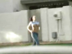 Gianna jogging topless