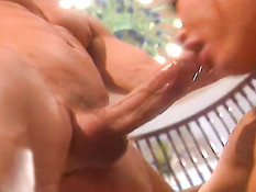 Big tited asian likes the big dick